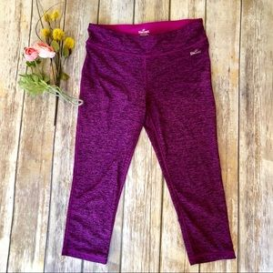 SPALDING Crop Maroon Pink Legging Tights - M
